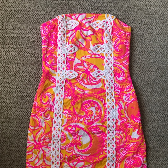 c9406fc9904a Lilly Pulitzer Dresses & Skirts - Tansy Strapless Lilly Pulitzer Dress
